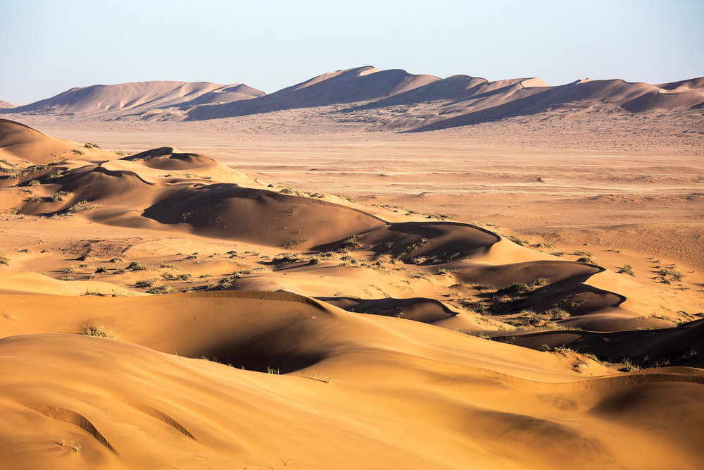 The Namib Sand Sea covers an area of over three million hectares.