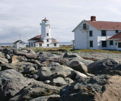 Historic Point Wilson Lighthouse.