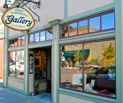 Art galleries are in abundance in downtown Port Townsend.