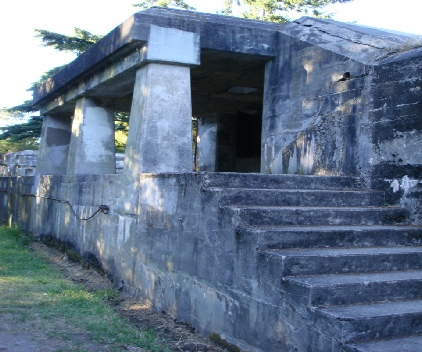 Historic Gun Battery from WW-2 Era. Note: was used during the filming of  An Officer and a Gentleman.