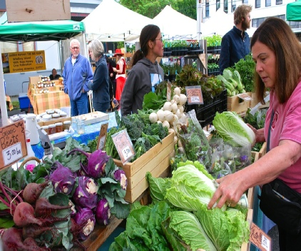The Uptown Farmers Market on Saturdays and Wednesdays.