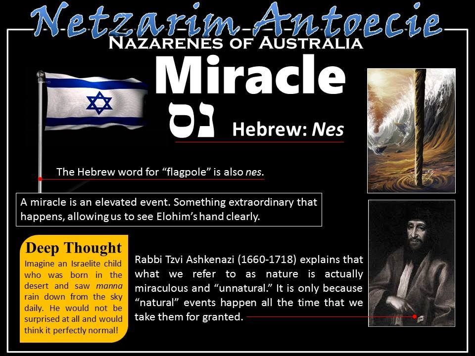 how to say miracle in hebrew