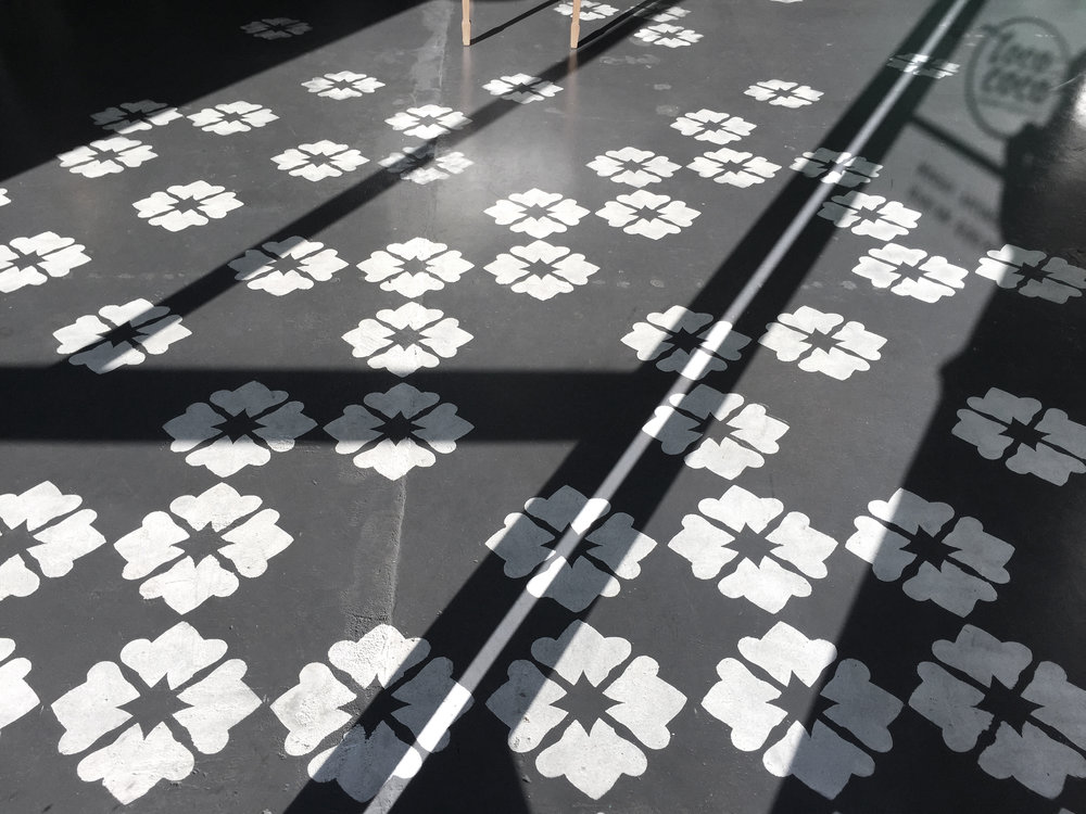 Loco for Coco custom floor stencil