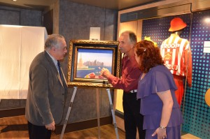 Artist Fanch Ledan describes his original art to Mark & Randi.