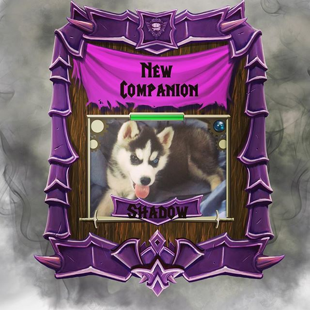 🐾#Airship #Enoch has a new #companion in the #world of #AfterEden ! 🐾 This #dog is no ordinary #husky #puppy , he is a #giant #slayer dog named #shadow who was found in #shade #village. 🎹🐾👍🏽 #Levelup #life #studio #gamer #gaming #music #besties #AirshipEnoch
