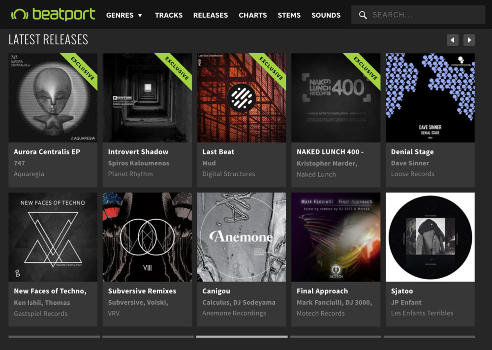 Beatport features the Aurora Centralis EP by 747 on the techno page's latest releases.