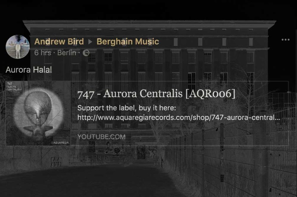 Aurora Halal plays 747's Aurora Centralis at Berghain.