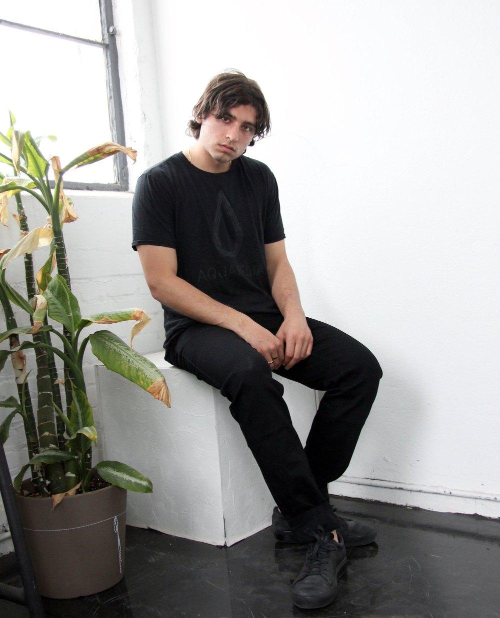 Black on Black Aquaregia T-Shirt