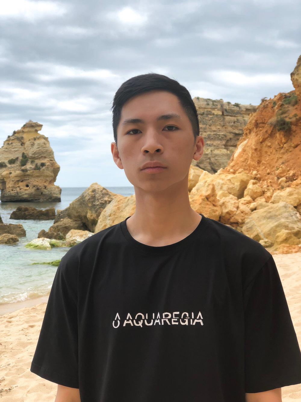 Ryan in the Aquaregia Glitch T-Shirt