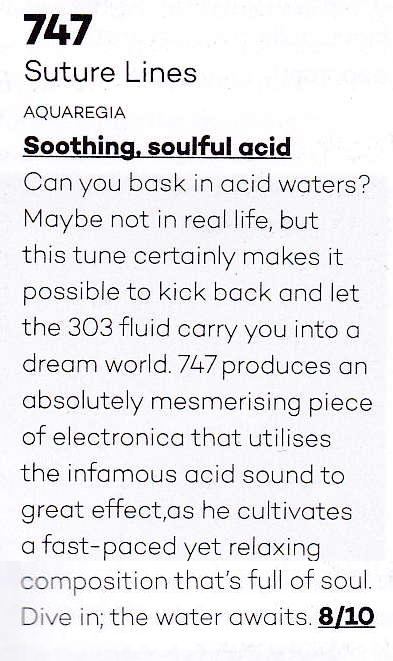 Amazing review from Mixmag in the August 2018 edition. 747's Paleo Pt. III gets an eight out of ten.