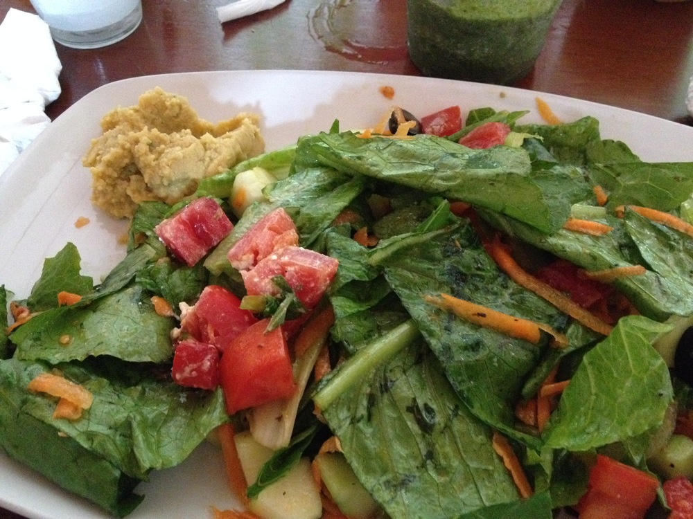 The Griega salad at Pitaya Juice Bar