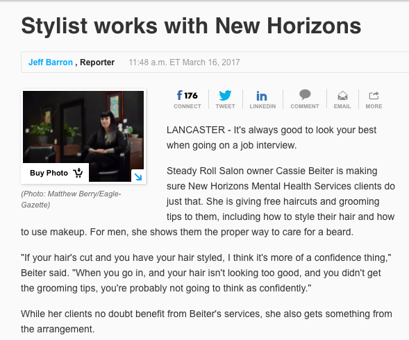 Steady Roll Salon in the Lancaster Eagle-Gazette