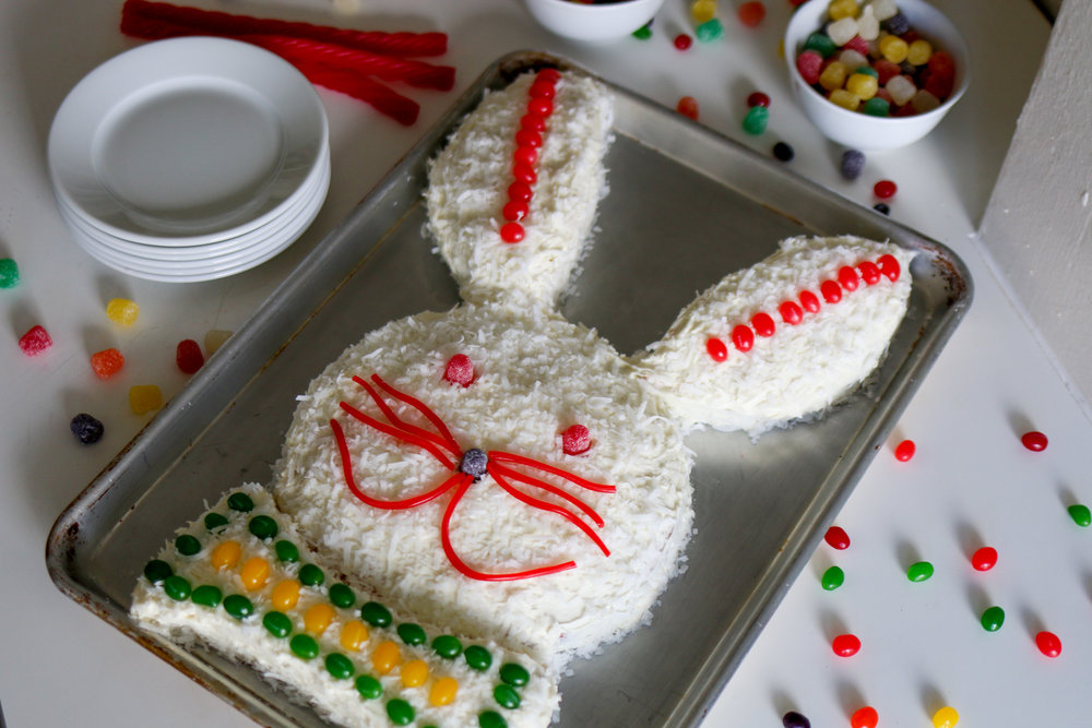 DIY Easter Bunny Cake - Recipe development, food styling, photography, blog and social content