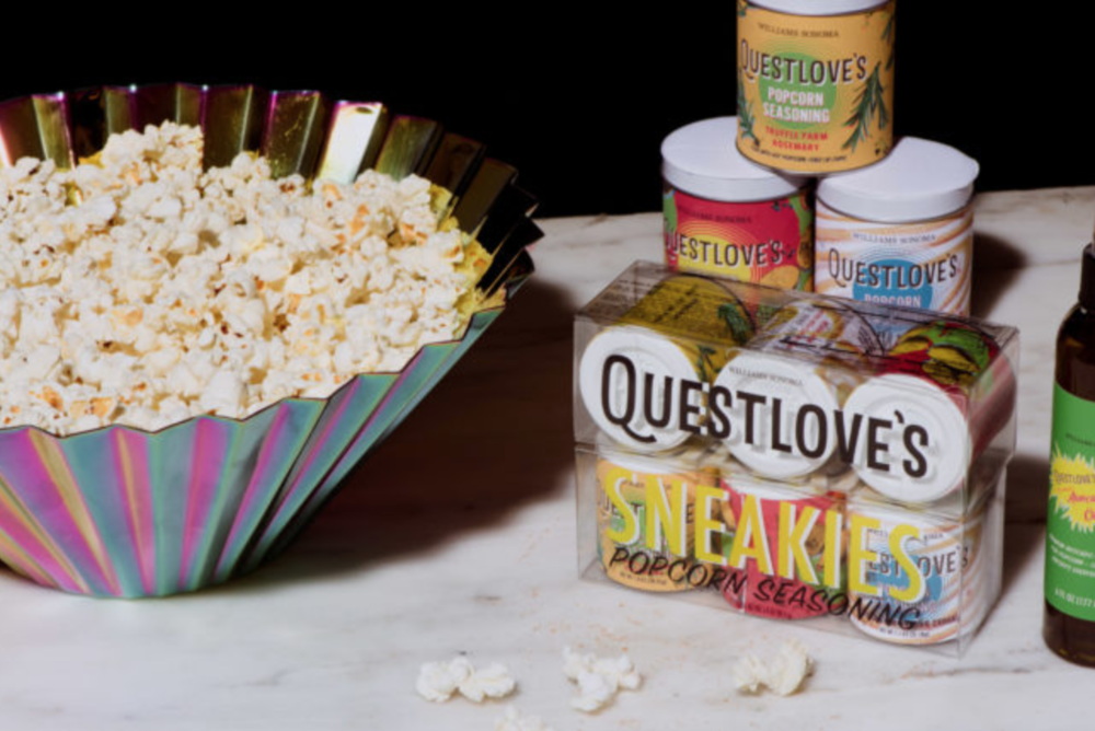 "Williams Sonoma Taste Blog Feature - ""Questlove and the Inspiration Behind his New Seasoning Collection (Hint: It Involves Popcorn!)"" - Conducted interview with Questlove and wrote feature for blog.(Photo Credit: Marcus Maddox)"