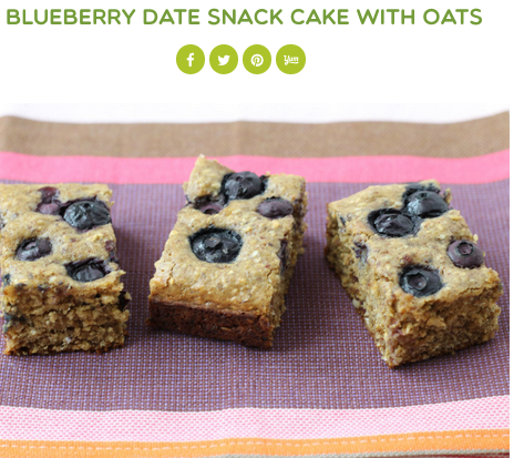 Super Healthy Kids, Blueberry Date Snack Bars