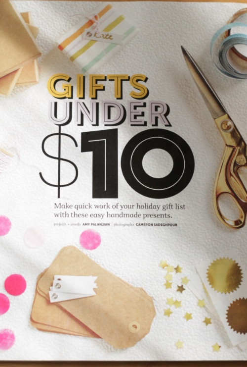 DIY Winter 2015, Gifts Under $10