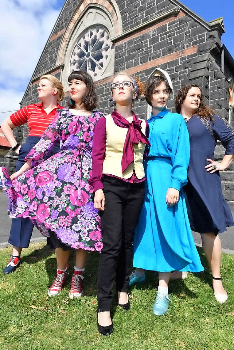 WIT INCORPORATED LAUNCHING THEIR 2017 SEASON AT THEIR HOME, THE BLUESTONE CHURCH. PICTURED ARE JENNIFER PIPER, SARAH CLARKE, ALLISON BELL, BELINDA CAMPBELL AND CLAIRE BOWEN. PHOTO BY DAMJAN JANEVSKI