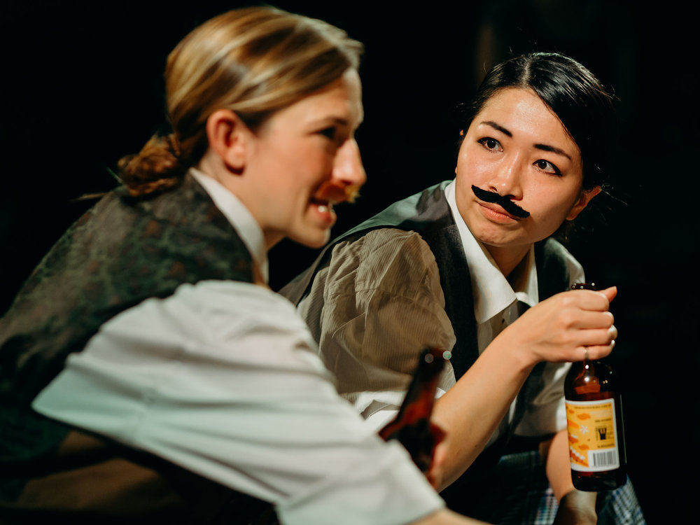 Aimee Marich as Rosencrantz and Lansy Feng as Guildenstern. Image: Jack Dixon-Gunn