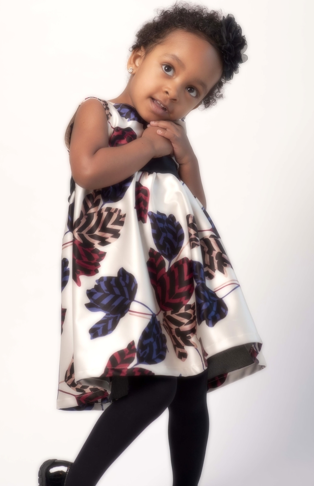 Designer Print Girls Dress