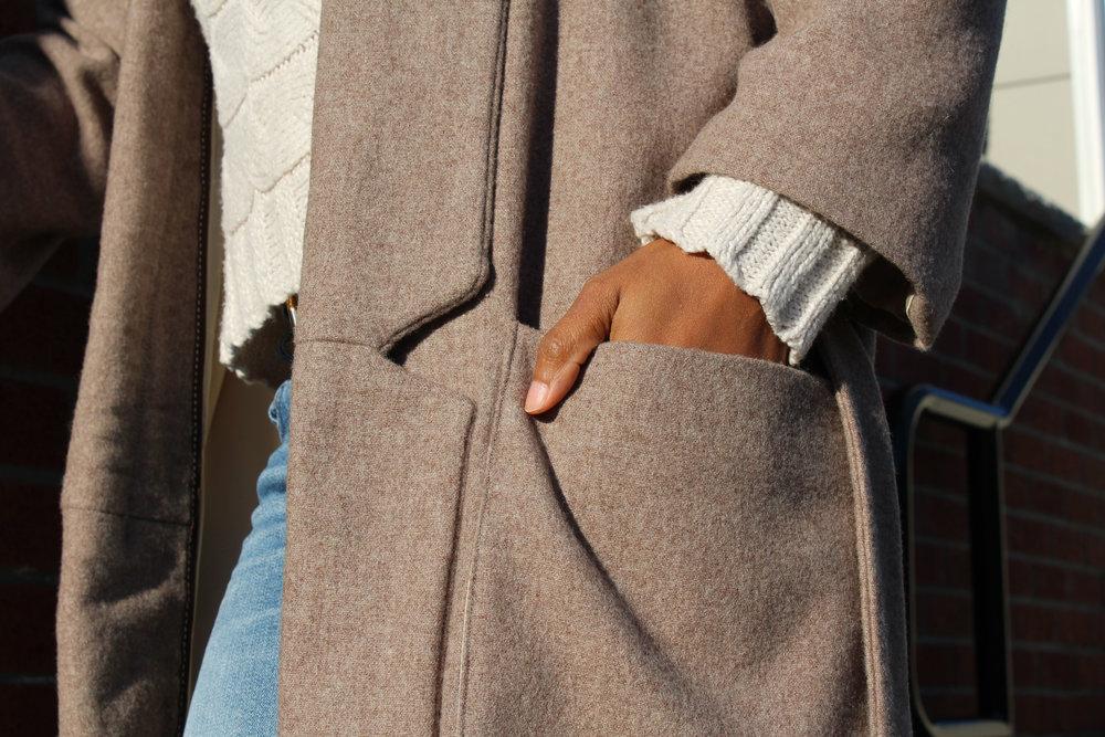 Deep large oversized patch pockets