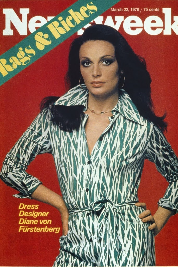 Diane Von Furstenberg in 1976 on the cover of Newsweek Magazine.