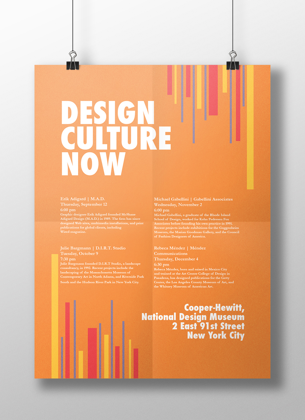 lecture series poster courtney blair designs