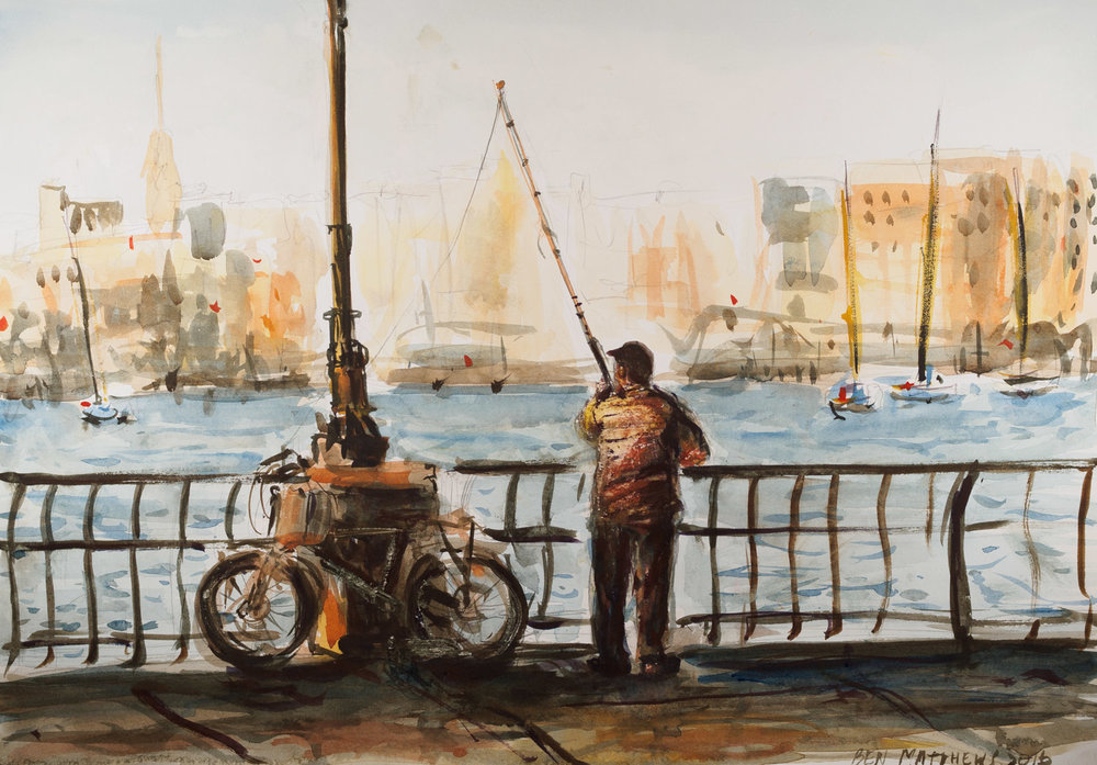 Fisherman, Battery Park, NYC
