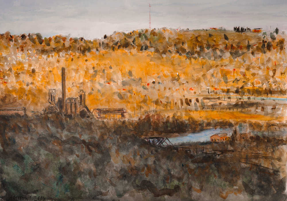 Golden Hour, Carrie Furnace from Beechwood