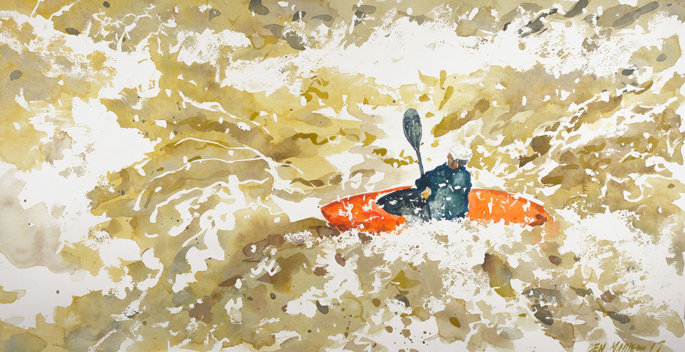 Kayaker, Meadow Run, Ohiopyle State Park