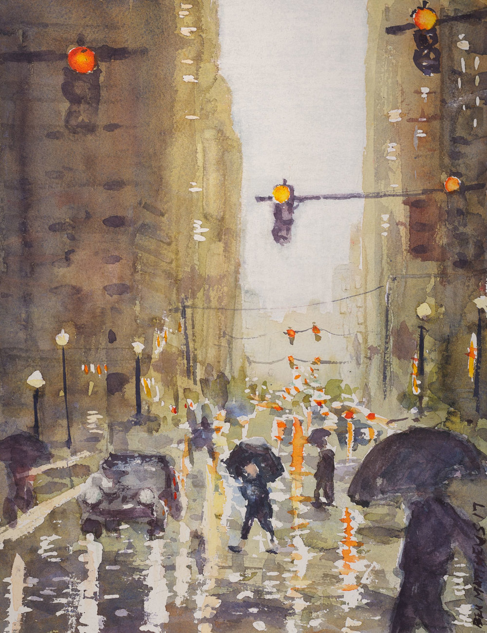 Spring Rain, Liberty Ave.