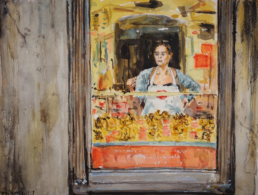 The Macaron Seller, France