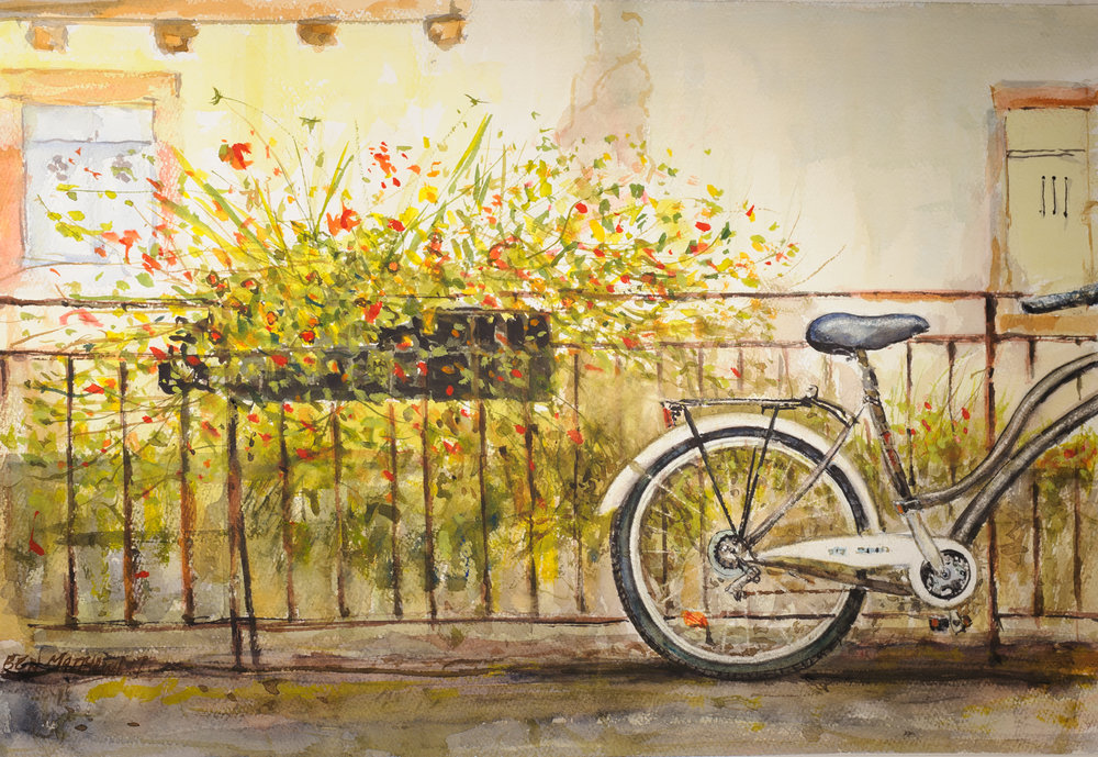Bike and Flowers, Colmar France
