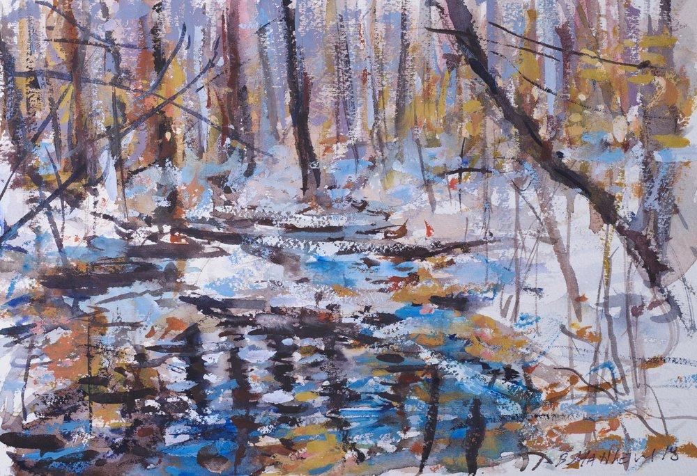 Watercolor Study. Lake Wilhelm, Pa.