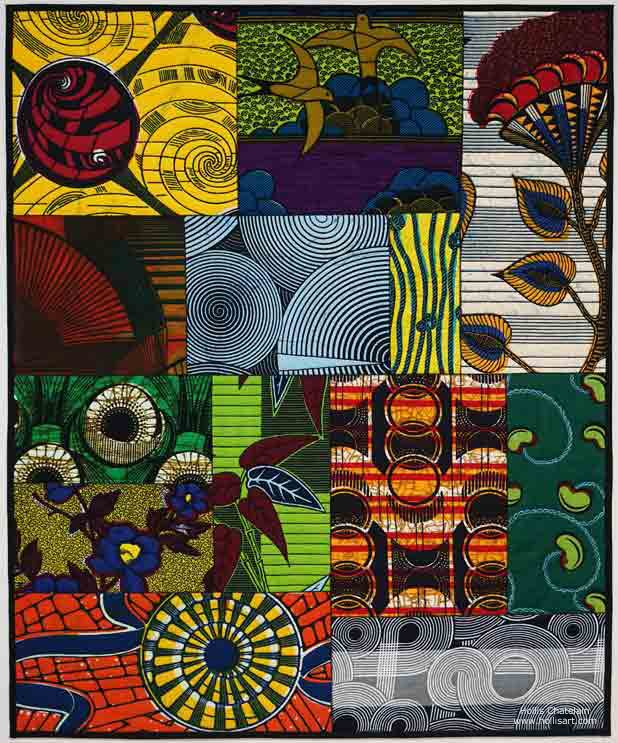 African Fabric Montage