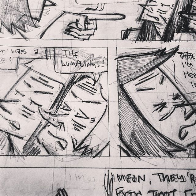 Whining about dumplings. Pencilling the last issue (#10) of Dumpling King! #comics #drawing #dumplings #cartoonist #cartooning