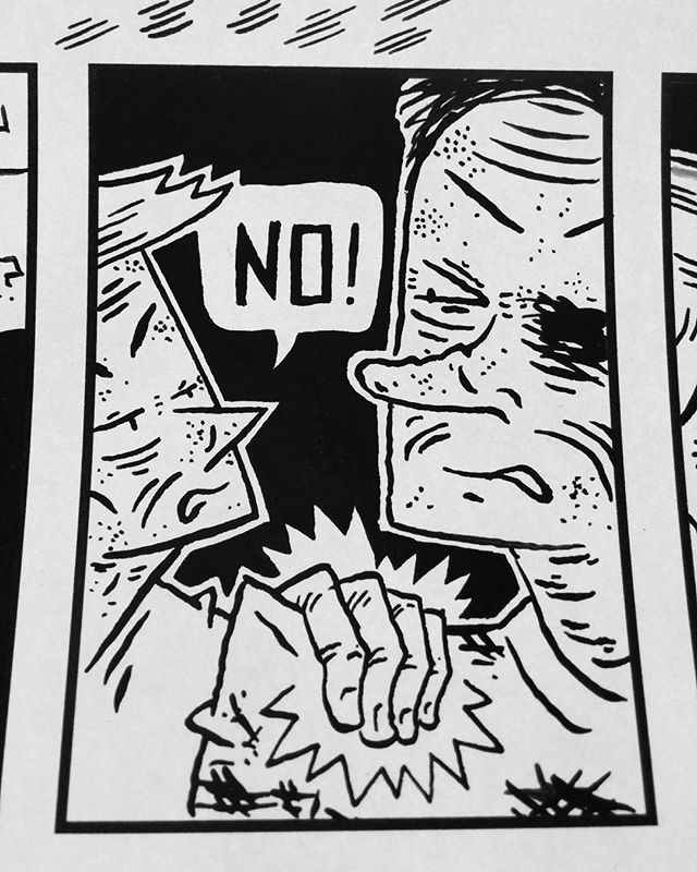 New year, last issue of Dumpling King. Almost done inking! #comics