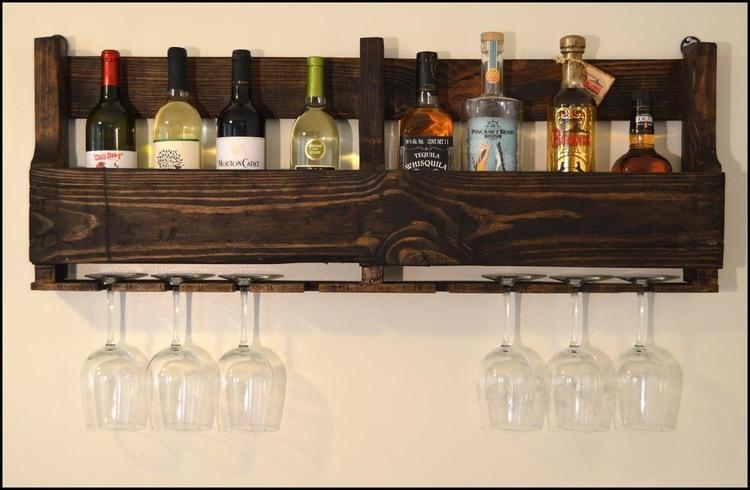 pallet whiskey rack