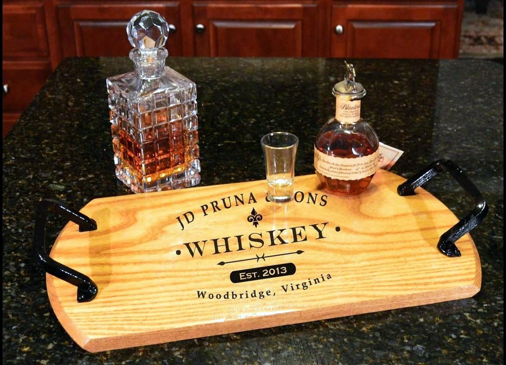 Personalized Barrel Serving Trays Lazy Susans Buyoakbarrelscom