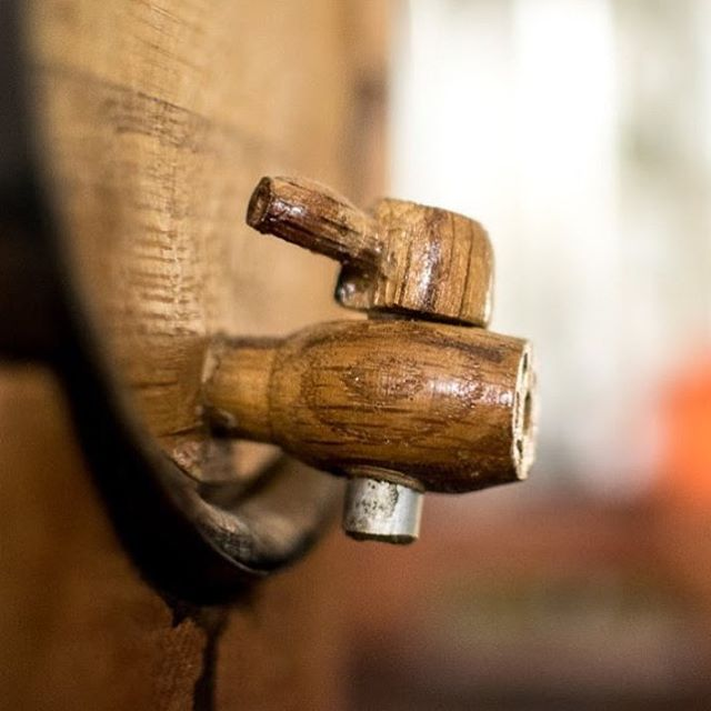 Barrel aged booze on tap. #buyoakbarrels