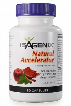 Natural Accelerator - Natural accelerator contains natural ingredients such as cayenne, green tea, and cocoa seed to support thermogenesis and boost metabolism. Through increasing thermogenesis which is the body's production of heat that is related to metabolic rate, it can translate into higher energy expenditure, increased fat oxidation, or the burning of calories.These are natural and stimulant free to avoid jitters.