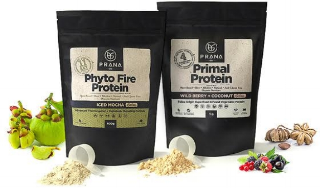 Primal Protein - The Primal Protein I use as a protein only plant based shake when I feel like a mixed flavoured shake. I use one scoop of in a blender with added frozen mixed berries, half a banana, some spinach or handful of greens, and a spoonful of peanut butter. It is very sweet so make sure I don't use too much of the powder. I love that it is sweetened with stevia.I love the taste of both shakes and they are super quick and convenient which really makes it easier for those who are time poor or struggle with meal preps.