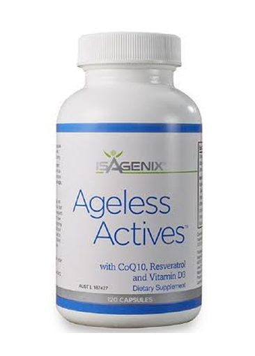 Ageless Actives - Ageless actives are another daily supplement I love. These have three age-defying nutrients: CoQ10 - great for generating energy within cells and is considered one of the most powerful antioxidants.Vitamin D3 - to help maintain a healthy immune system.Resveratrol helps to support healthy ageing and weight loss.