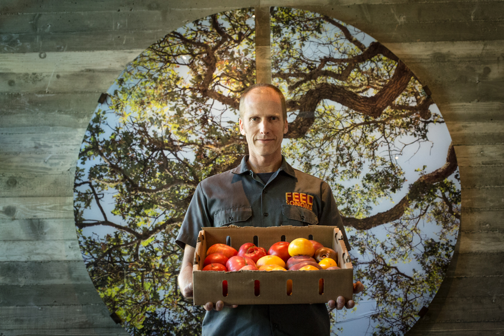 Tim Page, co-founder of F.E.E.D. Sonoma. Photography by Julie Ann Fineman.