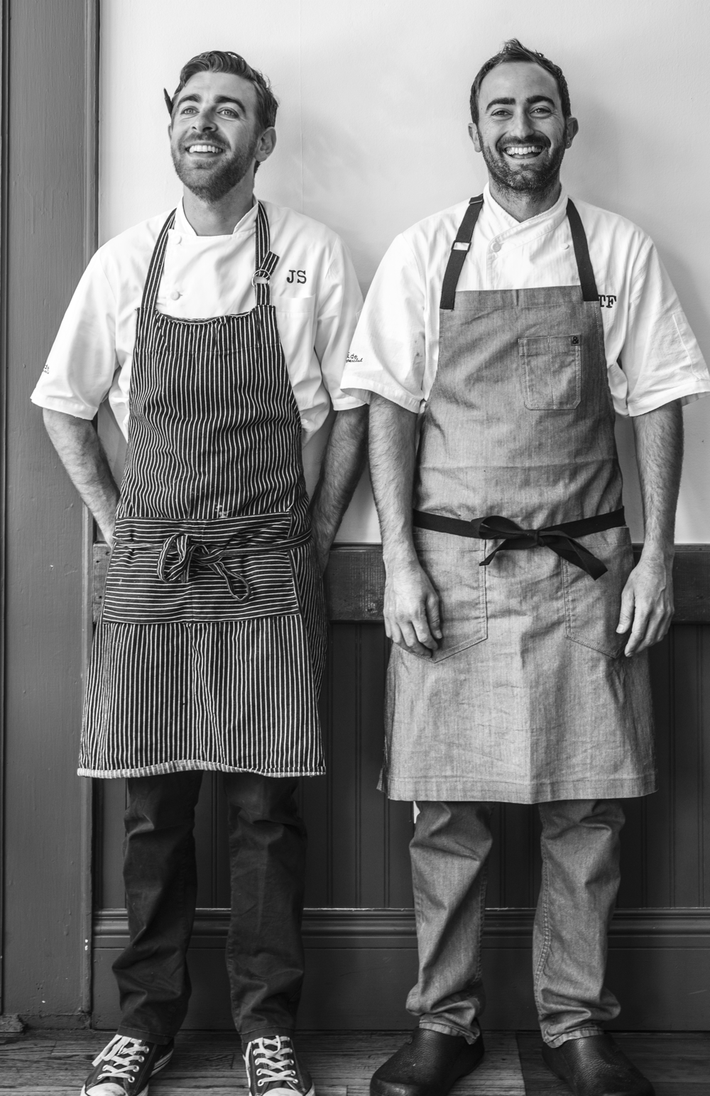 Jonathan Sutton (left) and Tony Ferrari (right), chefs and co-owners of the Hillside Supperclub. Photography ©Julie Ann Fineman.