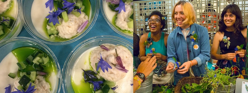 Bi-Rite Market's LIMELEAF & LEMONGRASS PANNA COTTA with Chrysanthemum, Cornflowers & Chive Blossoms and the Bi-Rite Family of Businesses-DIY Boutonniere