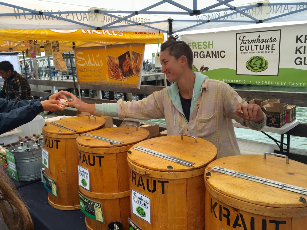 The Farmhouse Culture stand at the Ferry Building Farmers Market, San Francisco