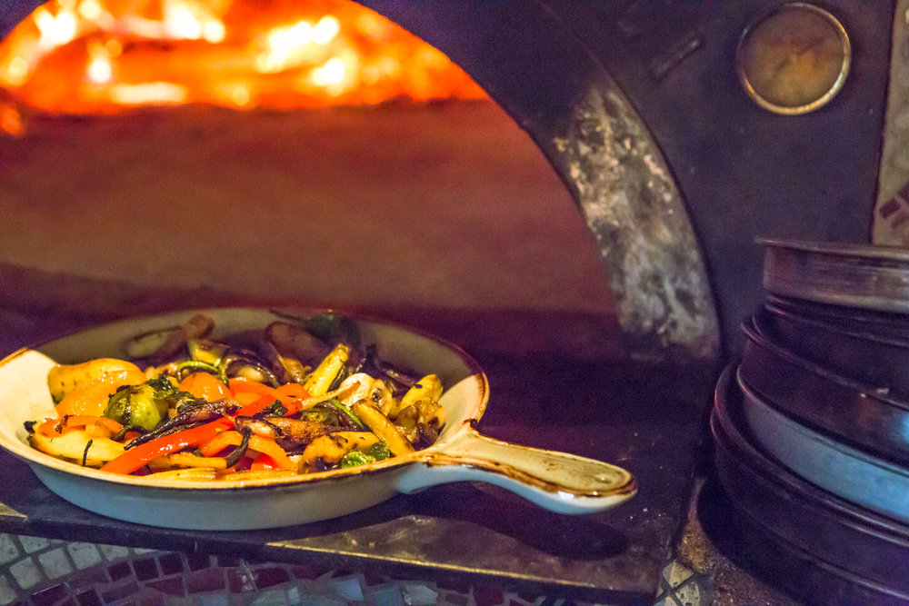 Ca'Momi's wood-oven roasted vegetables
