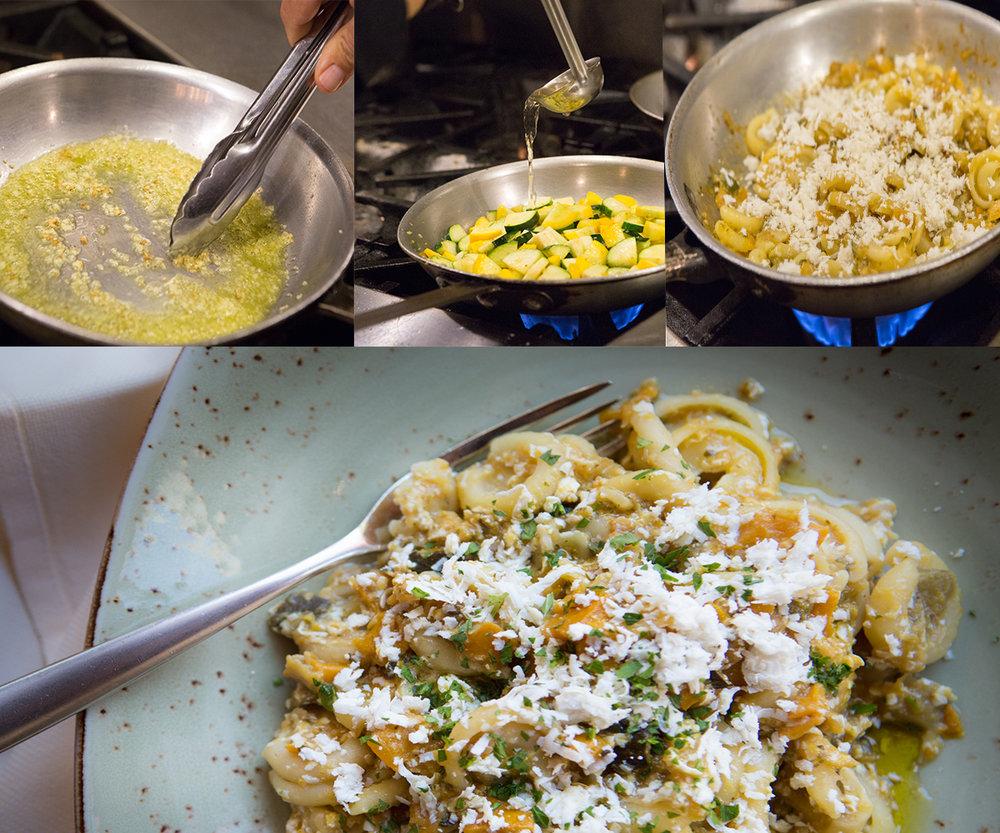 Cappelletti Con Ricotta Salata & Zucca · bellwether farms jersey ricotta · nicadado farm organic zucchini · black pepper · extra virgin olive oil