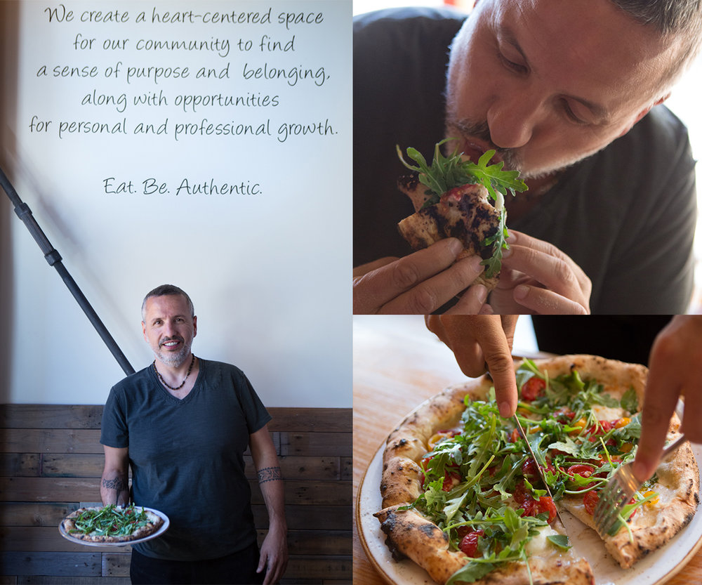Master Pizzaiolo & Winemaker Dario De Conti shows us the correct way to eat pizza: cut in half, fold, and eat.  Classic Italian street food.