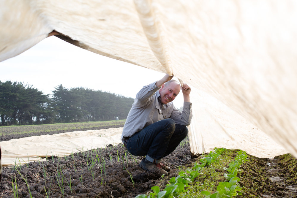 Jered Lawson check'n in with the crops, Pie Ranch                                                                                                                                                                                            Photo: Julie Fineman